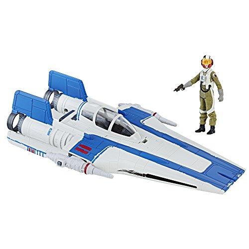 Star Wars Hasbro – C1248 Force Link – Set mit 10 cm Resistance A-Wing Fighter und Pilot