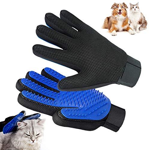 BoloShine Fellpflege-Handschuh, Haustier Grooming Bürsten Silikon Deshedding Glove, Multifunktionale Haar-Remover-Bürsten zum Pet Hunde Katzen Kaninchen Pferde Lange & Kurze Pelz (1 Paar)