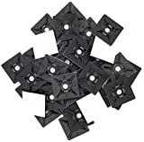 intervisio Cable Tie Mounts, 28 mm x 28 mm, Self Adhesive Base for Zip Tie, Bases Holder Pads, 100 Pieces, Black