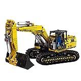 ZJLA Technic - Excavadora de bloques de construcción, 1830 piezas 2.4G 4CH Control remoto Excavadora camiones - 1:20, kits de construcción compatibles con Lego Technic