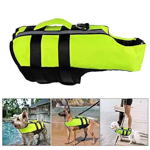 Souarts hondenzwemvest opvouwbaar hondenvest draagbaar airbag zwemtraining zwemvest groen reddingsvest voor honden