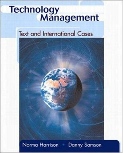Technology Management: Text and International Cases