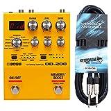 Boss OD-200 Hybrid Drive - Dispositivo multiefectos y cable para guitarra Keepdrum (3 m)