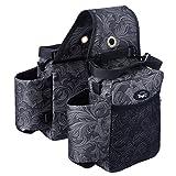 Tough-1 Printed Saddle Bag Black Tooled...