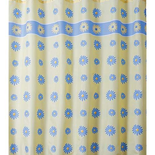 QXHELI Moldproof gordijnen stof polyester dik waterdicht douchegordijn badkamer schimmelbestendig gordijnen inkortbaar (sneldrogend) Maat: 200 x 200 cm