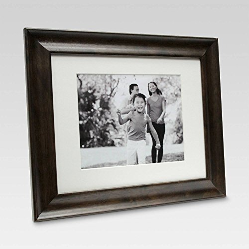"8"" x 10"" Matted Wall Frame Espresso - Threshold™"
