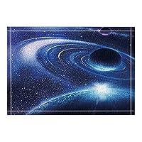 Amxxy 美しい銀河と惑星風呂敷物滑り止め玄関床玄関屋外屋内玄関マット子供バスマット15.7×23.6インチ浴室アクセサリー