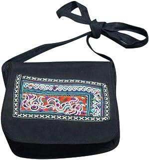 Bolso de Hombro Confeccionado a Mano Estilo Retro Bolso Tradicional Bordado a Mano de Algodón de Lujo Bolso Espacioso Estilo Hobo #109