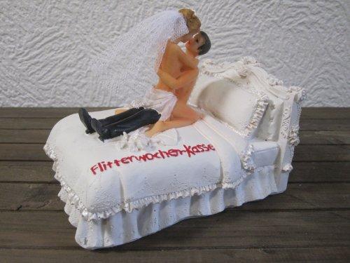 Brautpaar Spardose Sparschwein Flitterwochen Kasse R