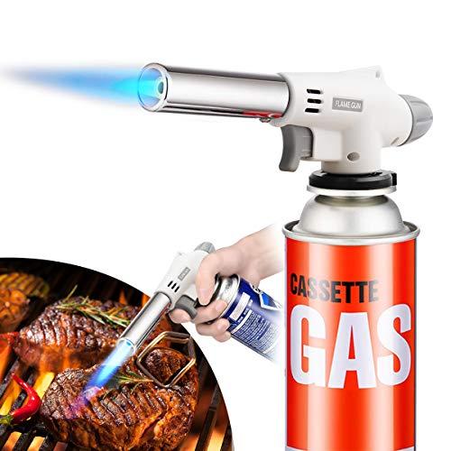 トーチバーナー ガスバーナー アウトドア 料理用 トーチ 900℃~1300℃ 炎調整可能 BBQ バーベキュー 料理 炭の火越し 凍結解氷 釣り 溶接など使える