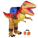 Annjom Disfraz de Halloween Inflable, sin Fugas de Aire, Conveniente Ropa de Fiesta Impermeable, para Fiestas de actuaciones(X115 Yellow Red)