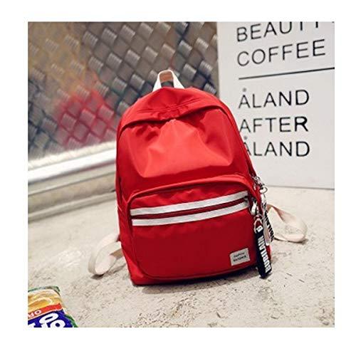 Wuhuizhenjingxiaobu Schultasche, Studententasche, zufälliger Rucksack, verschleißfester wasserdichter Rucksack, geeignet für Schüler der Klassenstufen 1-6, 30 * 13 * 37cm, schwarz, grün