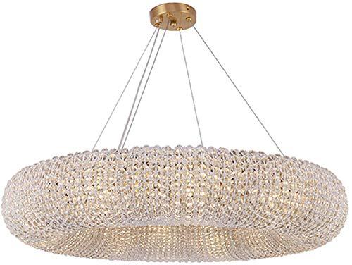 YQDSY Círculo Moderno Cristal de Cristal, Cristal de Lujo Colgante de Iluminación E14 Decoración para el Hogar Colgando Led Arañas Luz Light Lights Techo para Comedor de Dormitorio-