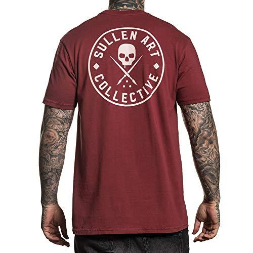 Sullen Men's Ever Short Sleeve T Shirt Burgundy 2XL