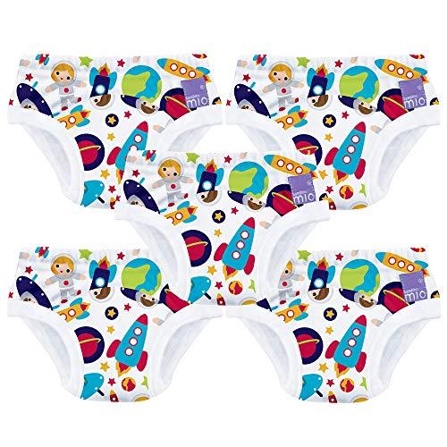 Bambino Mio Potty Training Pack de 5 Pañales de Aprendizaje, Multicolor (Outer Space), 2-3 Años