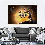 XIANGPEIFBH Leinwand Malerei Abstrakte Bild Halloween