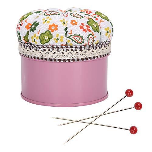 Fdit 500 Piezas alfileres de Cabeza de Vidrio alfileres de Cabeza de Bola Multicolor alfileres de Costura Rectos para componentes de joyería decoración de Flores
