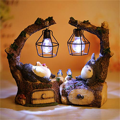Kimkoala Figure, Japanese Anime Figures Figurine with Night Lamp Light Statue Models Dolls for Home Garden Decoration Children Gift (2Pcs Pack)