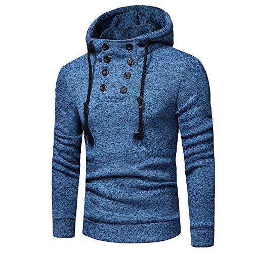 Men's Pullover Sweatshirt Slim-Fit SFE Spring Winter High Collar Drawstring Hoodie Jackets Warm Soft Coat with Pocket