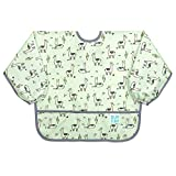 Bumkins Sleeved Bib, Toddler Bib, Smock, Waterproof, Washable, Stain and Odor Resistant, Llama, 6-24...