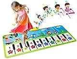 Alfombra Musical para Niños, Alfombra de Piano Infantil, Juguete Educativo para Niños Regalo para Niños Mayores de 3 Años, 132 * 64 cm