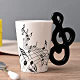 N/V Tazze di Ceramica Dipinte A Mano Note Creative Tazze Musicali Tazze Di Musica Tazza Di Caffè Reg