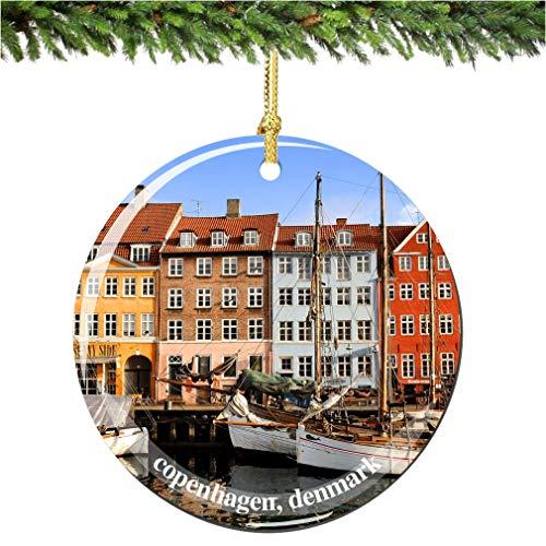 Tiukiu Copenhagen Denmark Christmas Ornament In Porcelain Copenhagen Ornaments