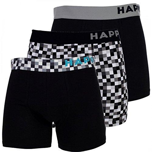 Happy Shorts 3 Stück Boxershorts Pants Boxer witzige Designs Mode NEU Farbwahl, Grösse:S - 4-48, Präzise Farbe:Design 1