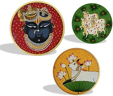 Hanish Ranking TOP2 Art - Shrinath Ji with Cow's Pichwai Beautiful New Shipping Free Combinatio