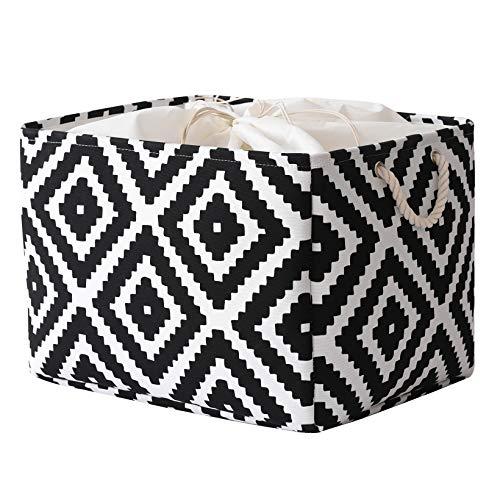 pulnimus Storage Basket Fabric Basket Large Storage Basket with Lid,Collapsible Basket Decorative Basket for Shelves Cloth Basket for Storage, Foldable Basket for Organizing Toys(20.5x15.7x13.8inch)