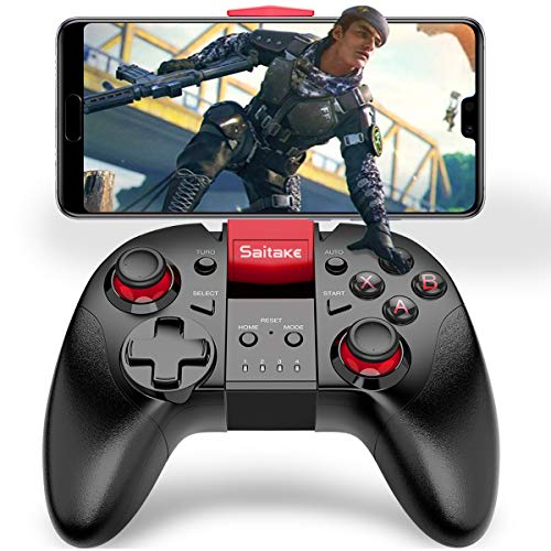 Mobile Gaming Controller, BEBONCOOL Mobile Controller for PUBG, Remote Game Controller for iPhone, Mobile Game Wireless Controller with Triggers, Mobile Gamepad with Joysticks Controller for iOS Red