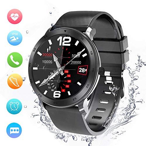 Smartwatch, Activity Tracker, Support Calling, Herzfrequenzmesser, Blutdruck- / Musik-Player, Remote Shot/Stoppuhr/Anti-Lost Kompatibel mit Android und IOS.(48mm)