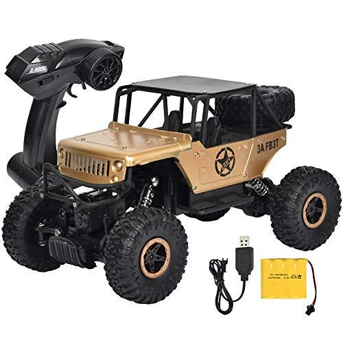 ZHANGL Todo terreno 1/18 RC 2.4G bigfoot bicicleta de montaña deriva eléctrica del modelo del coche de niño de juguete de regalo de cumpleaños de Navidad en las cuatro ruedas que sube fuera de la carr