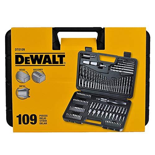 DeWalt DT0109 - Set di cacciaviti e punte per trapano, 109 pezzi
