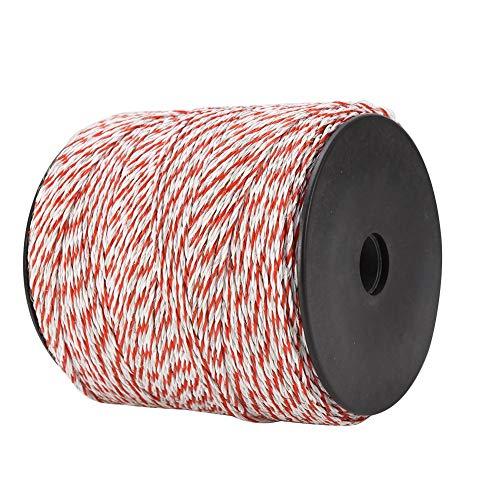 Alambre de Cerca Conductor 500M Blanco Rojo Alambre de Cerca Eléctrico de Ganado Cuerda Conductora de Acero Inoxidable