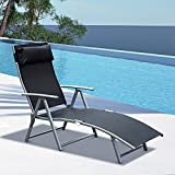Alek... Adjustable Chair Pool Patio Furniture Recliner Outdoor Lounge Beach Garden