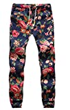 Nothar Men's Fashion Relaxed Casual Outdoor Sports Floral Colored Pants,T2 Large