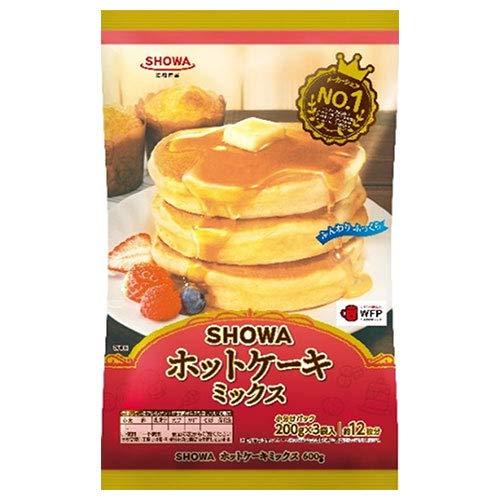 昭和産業 (SHOWA) ホットケーキミックス 600g(200g×3袋)×20袋入