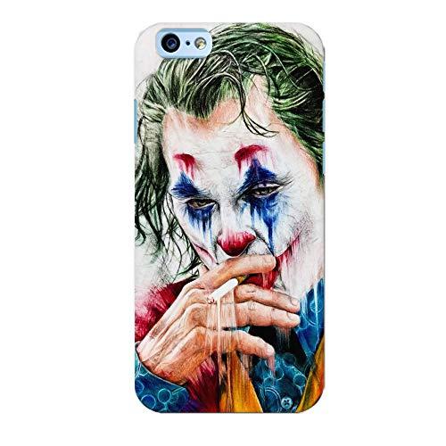 troppofigo Cover Pagliaccio Clown Joker Che Fuma Card Faccia Disegno Morbida Compatibile per iPhone (iPhone 7 Plus / 8 Plus, Joker-Batman)