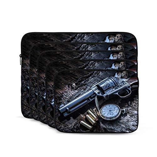 QUEMIN Guns Print Funda para portátil, maletín Resistente a los Golpes, Estuche para Tableta para MacBook Pro/MacBook Air/ASUS/DELL/Lenovo/HP/Samsung de 15 Pulgadas