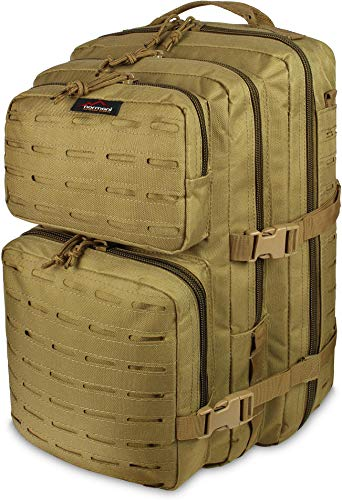 normani US Assault Pack Laser Tec Large, Rucksack 50 Liter Farbe Coyote