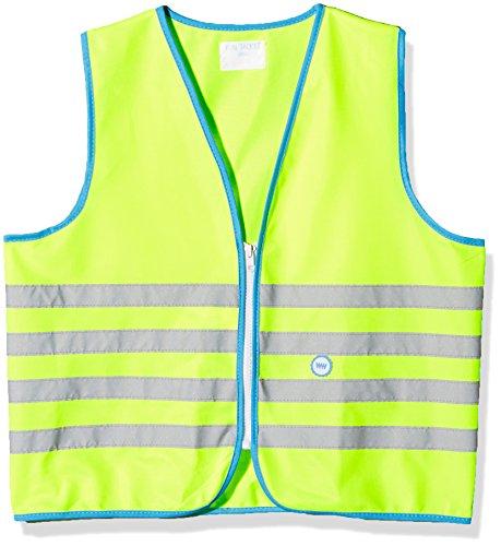Wowow Fun-Warnweste für Kinder, Gelb fluoreszierend, Größe M (7-9 J.)