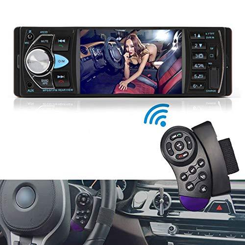ALLWIN Radio de automóvil 1din estéreo MP5 MP3 MP3 Bluetooth Radio FM USB Autoradio 4.1 Pulgadas Soporte Vista Posterior Mirror de Control de la Rueda del Volante