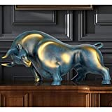 WLALLSS Estatua Taurina, Escultura Adorno Carne Res, Símbolo Riqueza y Poder, Figuras Animales Abstractos la Sala Oficina Accesorios el Hogar