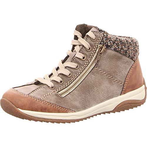 Rieker Damen L5223-24 Hohe Sneaker, Braun (Brandy/Cigar/Terra 24), 42 EU