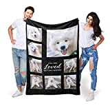 EastArts Custom Throws Blanket with Photos on it, Customized Blankets with Pet Picture and Text for Lover and Friends, 10 Colours Available