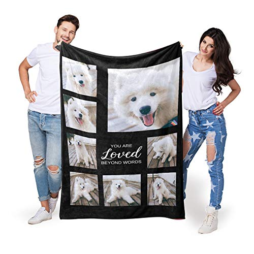 Custom Throws Blanket with Photos on it, Customized Blankets with Pet...
