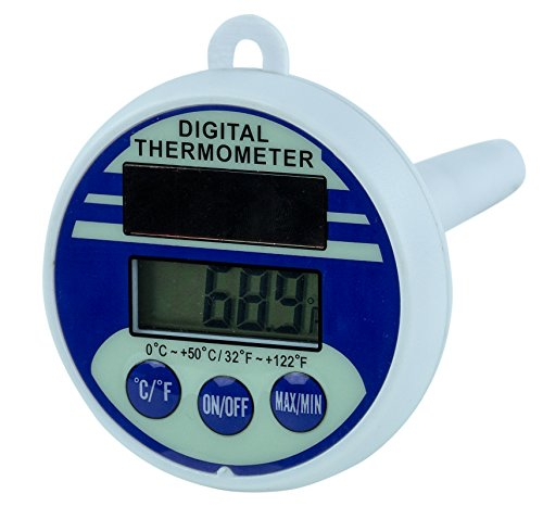BioGuard Floating Solar Powered Digital Thermometer