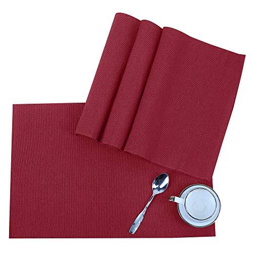 Tovaglietta americana - Vino rosso cm 49x33 in cotone - Tappetini da tavolo per cucina - set di 4 tovaglioli - Tovagliette decorative - Tappetino da pranzo - Dining Table Mat
