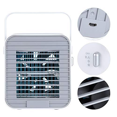 Annjom Enfriador de Aire, Ventilador de enfriamiento Ventilador de Enfriador de Aire Aire Acondicionado con Pilas para la Sala de Estar de la Escuela de la Oficina en casa